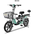 新款子母車鋰電池真空胎親子電動車48V成人代步電動自行車 萬客居