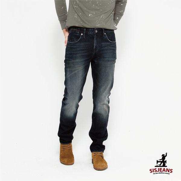 SISJEANS-黑灰刷白修身牛仔褲【16271006】