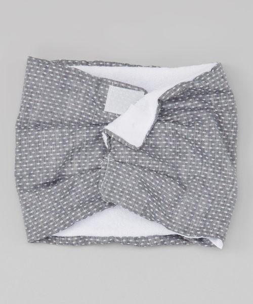 Scabib 圍巾 口水巾  質感深色白圓點款