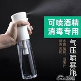 高壓噴霧瓶酒精消毒化妝補水超細細霧霧化噴瓶空瓶按壓稀釋小噴壺好樂匯