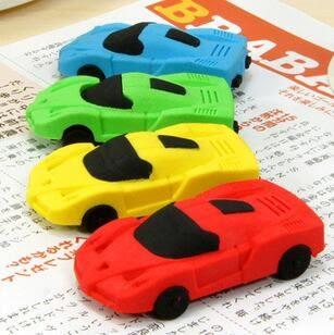 創意 文具 可拆卸 可愛 卡通 小汽車 跑車 橡皮擦 學生用品
