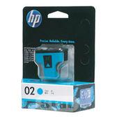 [奇奇文具]【HP 墨水匣】HP C8771WA/NO.02 原廠青藍色墨水匣