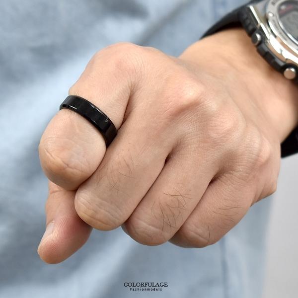 鋼戒 超級簡單黑色戒指 NC245