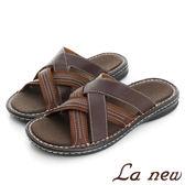 【La new outlet】PU氣墊拖鞋 (男220075320)
