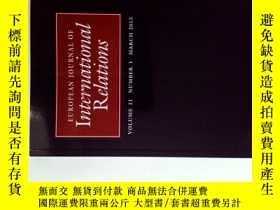 二手書博民逛書店EUROPEAN罕見JOURNAL OF INTERNATIONAL RELATIONS 2015年3月歐洲國際關