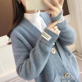 很仙的秋冬毛衣女外套衫2019春裝新款韓版寬鬆中長款針織女開衫厚 韓語空間