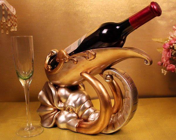 歐式風格大象樹脂紅酒架