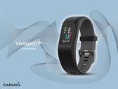 【時間道】GARMIN vivosport -預購-GPS智慧健康心率手環-躍動黑L(010-01789-B2)免運費