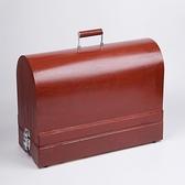 家用老式縫紉機木質手提箱 收納盒 青木鋪子「快速出貨」
