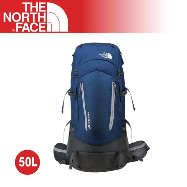 【The North Face 50L 專業登山背包《深藍/中灰》】A6K0/人體工學/後背包/大容量