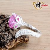 迷人狐仙戒指-粉紅(925純銀)活圍戒《含開光》財神小舖【RS-206】