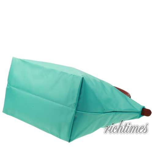 【裕代 LONGCHAMP】藍綠水餃大肩背包(長把) LC0C8206