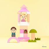 Disney KIDEA 迪士尼益智平衡積木 小木塊 長髮公主魔髮奇緣城堡組_BD02064
