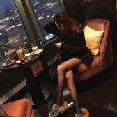 balenciag潮牌黑色字母防嗮性感美腿顯瘦超薄提花連褲絲襪子女夏   麥吉良品