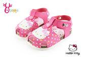 Hello kitty 護趾涼鞋 足弓型 歐風氣墊防水涼鞋I6725#桃紅◆OSOME奧森童鞋