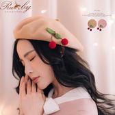 帽子 素色櫻桃貝蕾帽-Ruby s 露比午茶
