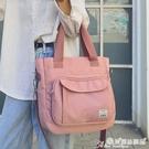 時尚側背包 帆布尼龍包包女大容量新款日系通勤手提包輕便布包簡約側背斜背包 愛麗絲