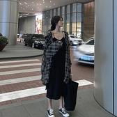 胖mm 炸街大碼女裝顯瘦洋氣春秋兩件套裝吊帶洋裝子秋裝Milano 米蘭