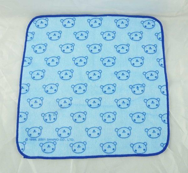 【震撼精品百貨】Sanrio_藍熊~方巾『熊頭』