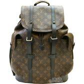 【Louis Vuitton 路易威登】M43735 CHRISTOPHER PM系列Monogram帆布牛皮鑲飾手提/後背包