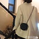 側背小包包包女新款可愛迷你菱格小香風鍊條包圓形包網紅側背小圓包斜背包 伊蒂斯