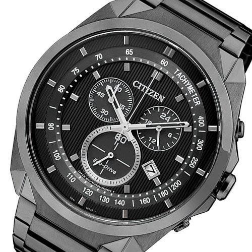 CITIZEN 星辰 Eco-Drive METAL 專屬型男計時腕錶-IP黑/44mm AT2155-58E 比漾廣場