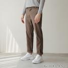 【GIORDANO】男裝彈力斜紋棉窄管卡其褲 - 10 花紗卡其