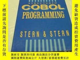 二手書博民逛書店STERN STERN罕見STRUCTURED COBOL PR