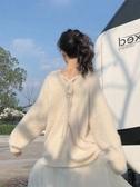 網紅秋季百搭外穿針織衫套頭小香風慵懶長袖寬鬆上衣服女很仙毛衣 【傑克型男館】