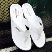 涼鞋 2019夏季新款涼拖戶外穿防滑夾腳沙灘鞋英倫拖鞋男