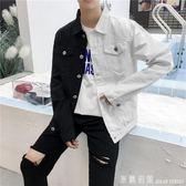 牛仔外套 春夏季薄款外套青少年韓版修身學生港風牛仔夾克男裝寬鬆潮流衣服 米蘭街頭