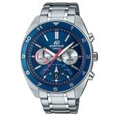 【CASIO】 EDIFICE 發光塔系列不鏽鋼錶-藍面(EFV-590D-2A)