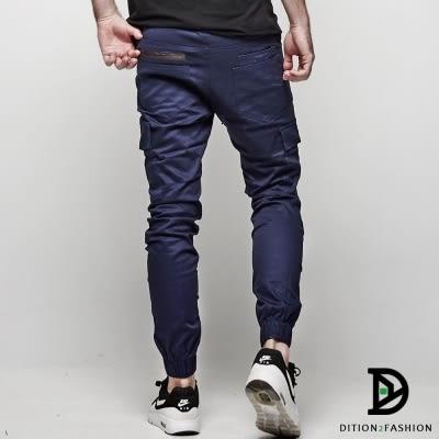 DITION 經典皮革ORIGINAL側口袋縮口褲 工作褲 潮牌