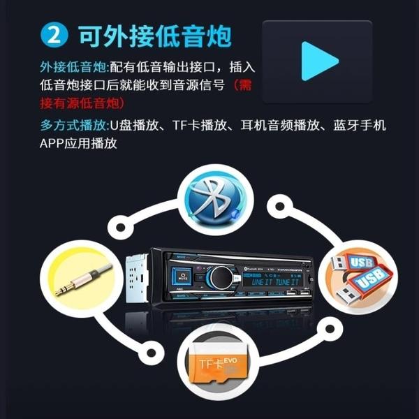 車載收音機通用12V24V藍芽MP3播放器主機插卡音響貨車DVD汽車CD機【快速出貨】