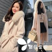 毛呢外套毛領毛呢外套女中長款2018韓版新款秋冬學生加厚過膝雙面呢子大衣