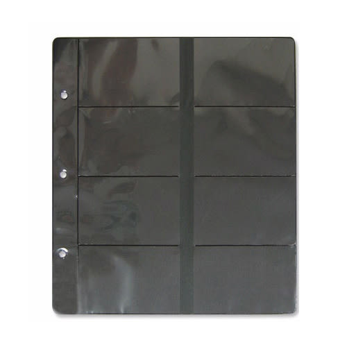 [奇奇文具]【名片內頁】Leader WA-26008黑底3孔8格名片內頁/5張