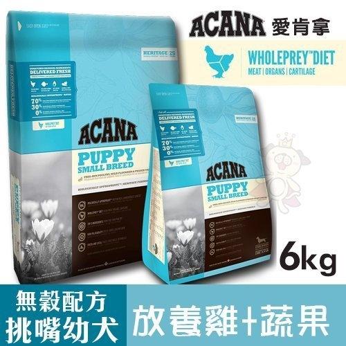 *WANG*【免運】ACANA愛肯拿 挑嘴幼犬無穀配方(放養雞肉+新鮮蔬果)6kg 幼犬所需高蛋白質 犬糧