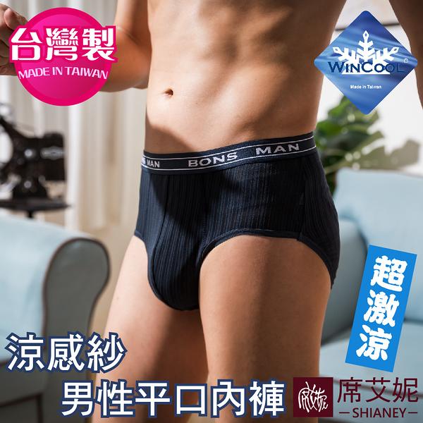 男性三角褲 涼感超薄吸濕排汗 冰絲男內褲 台灣製造 M-L-XL-2XL no.9186 (藍色)-席艾妮SHIANEY
