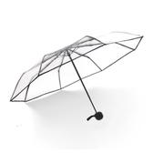 雨傘 韓國透明雨傘女折疊全自動開收傘森系三折學生晴雨傘男小清新加厚 8號店