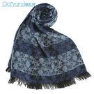 Vivienne Westwood 條紋雙色滿版星球圖樣披肩圍巾(藍色)910534