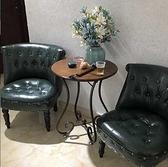 歐式復古單人沙發皮布藝時尚小戶型臥室電腦美甲椅子服裝店鋪沙發  母親節禮物