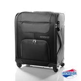 AT 美國旅行者 18吋 MV+SS 加大容量休旅 布面 行李箱(黑色)