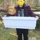 種植箱 陽臺特大種菜盆 長方形塑料花盆 特大花槽種植盆種植箱 2個包郵 3C優購HM