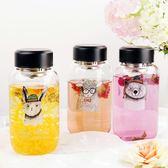 玻璃杯 可愛卡通大容量創意潮流學生韓版清新夏季便攜水杯子【父親節大優惠】