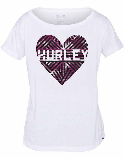 Hurley X Nike Dri-FIT 科技LOVE ME WEAVE DRI-FIT TEE T恤 - 女(白)