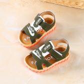 男童露趾涼鞋夏季小童沙灘鞋子女寶寶涼鞋軟底防滑小童鞋潮0 東京衣櫃