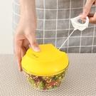 手拉式碎菜器家庭用手動多功能小型攪菜絞肉機迷你蒜泥搗碎攪蒜器 夢幻小鎮