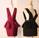韓式修身圍裙工作服洋裝空姐圍兜040345通販屋