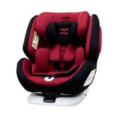 【ISOFIX/安全帶兩用】法國納尼亞 Nania x Migo 納歐聯名 360度旋轉 0-12歲汽車安全座椅/汽座 紅色