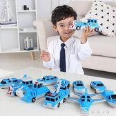 百變海陸空拼裝玩具積木磁鐵磁力拼裝汽車益智2-3-4-5-6歲男孩女 娜娜小屋